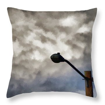 Storm Sentinel Throw Pillow