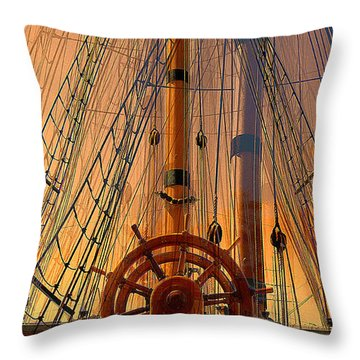 Throw Pillow featuring the photograph Storm Ship Of Old by Lori Seaman