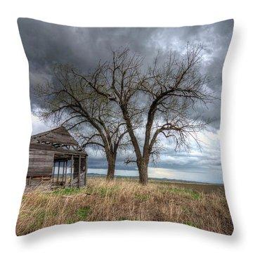 Storm Sky Barn Throw Pillow