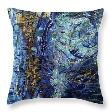 Storm Spirits Throw Pillow by Cathy Beharriell