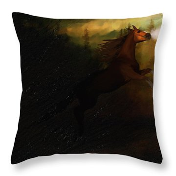 Storm Spooked Throw Pillow by Angela A Stanton