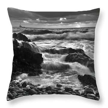 Storm Surge Throw Pillow by Bill  Robinson
