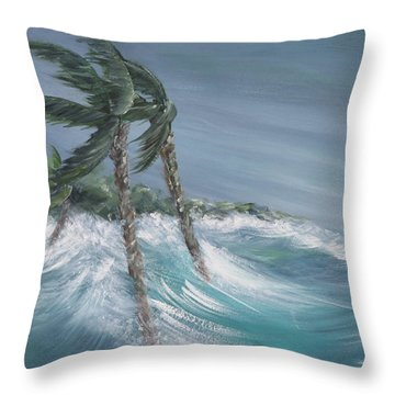 Storm Surge Throw Pillow
