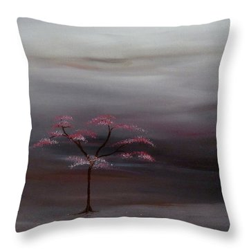 Storm Tree Throw Pillow by Robert Marquiss