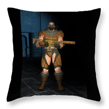 Storm Trooper Throw Pillow