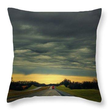 Storm Truckin' Throw Pillow