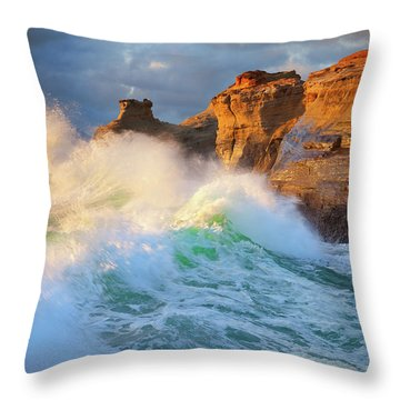 Throw Pillow featuring the photograph Storm Watchers by Darren White