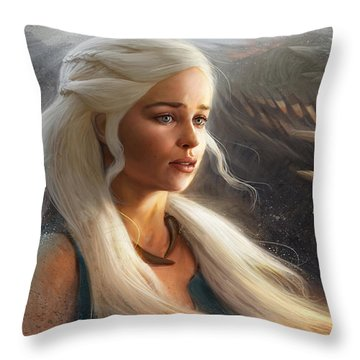 Throw Pillow featuring the digital art Stormborn by Steve Goad