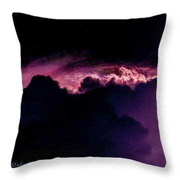 Storms Acomin' Throw Pillow