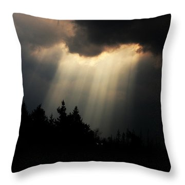 Storms And Sun Rays Throw Pillow