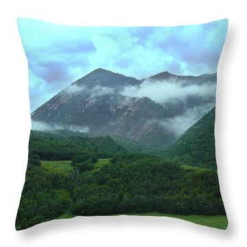 Throw Pillow featuring the photograph Storm's End by Marie Leslie