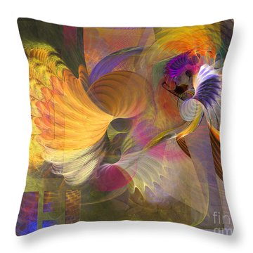 Storms On Sheridan Throw Pillow by John Robert Beck