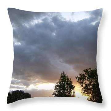 Throw Pillow featuring the photograph Storms On The Horizon by Skyler Tipton