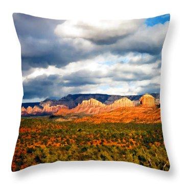 Stormwatch Arizona Throw Pillow by Kurt Van Wagner