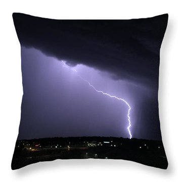 Stormy Art On The Prarie Throw Pillow