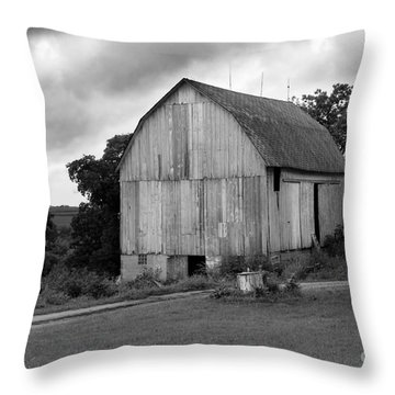 Stormy Barn Throw Pillow