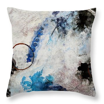 Stormy Bird Throw Pillow by Gallery Messina