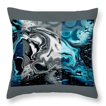 Stormy Day. Throw Pillow