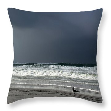 Stormy Throw Pillow by Debra Forand