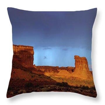 Throw Pillow featuring the photograph Stormy Desert by Chad Dutson