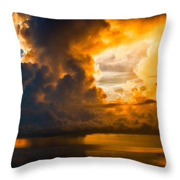 Stormy Florida Keys Throw Pillow