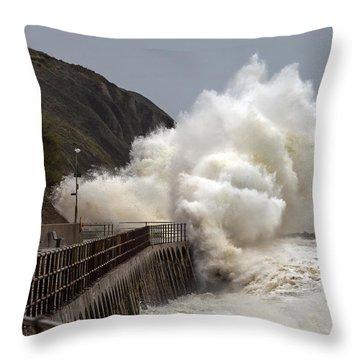 Folkestone Harbour Throw Pillows