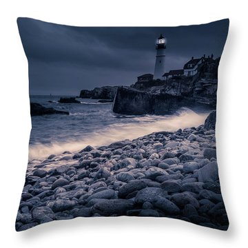Stormy Lighthouse 2 Throw Pillow