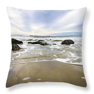 Stormy Maine Morning #1 Throw Pillow