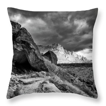 Stormy Misery Ridge  Throw Pillow