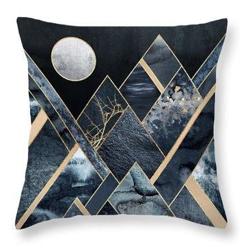 Stormy Mountains Throw Pillow