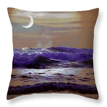 Throw Pillow featuring the photograph Stormy Night by Aaron Berg