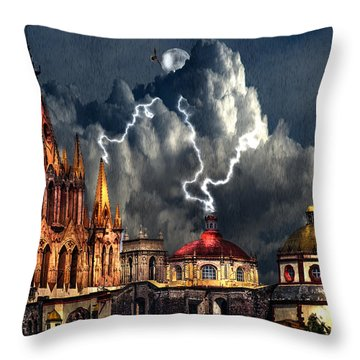 Stormy Night Throw Pillow