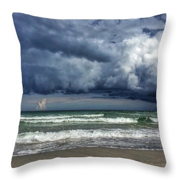 Stormy Ocean Throw Pillow