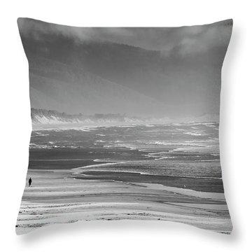 Stormy Oceanside Oregon Throw Pillow