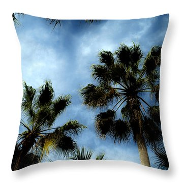 Stormy Palms 2 Throw Pillow