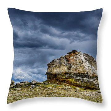 Stormy Peak 2 Throw Pillow