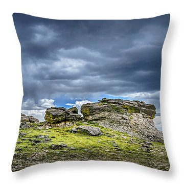 Stormy Peak 3 Throw Pillow