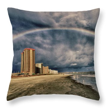 Stormy Rainbow Throw Pillow by Kelly Reber