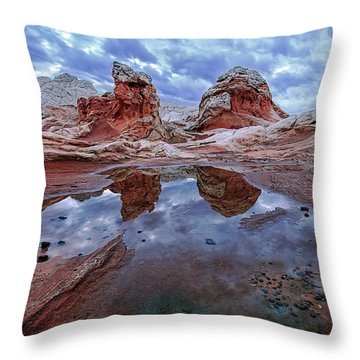 Stormy Reflection Throw Pillow