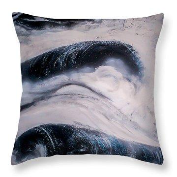 Stormy Rhythms Throw Pillow