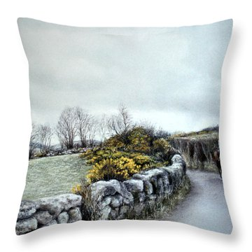 Stormy Ride On The Moor Throw Pillow