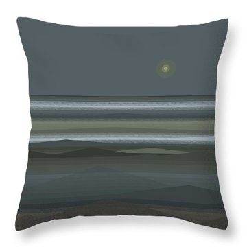 Throw Pillow featuring the digital art Stormy Sea - Square by Val Arie