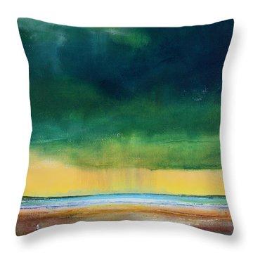 Stormy Seas Throw Pillow by Toni Grote