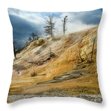 Stormy Skies At Mammoth Throw Pillow by Steve Stuller