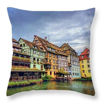 Rhine River Throw Pillows