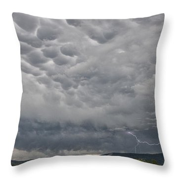 Throw Pillow featuring the photograph Stormy Skies In Wyoming by Sandra Bronstein