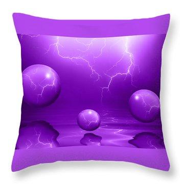Stormy Skies - Purple Throw Pillow