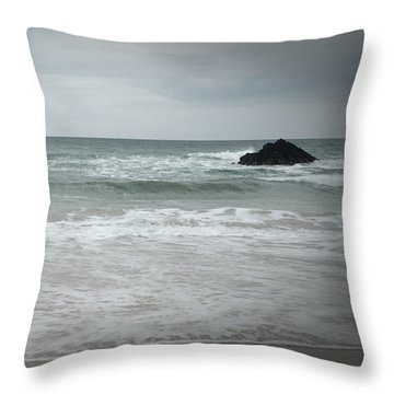 Stormy Sky Throw Pillow by Helen Northcott