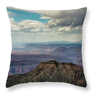 Stormy Sky Past Bridgers Knoll Throw Pillow