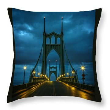 Stormy St. Johns Throw Pillow